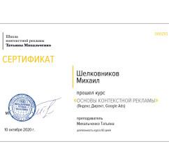 Сертификаты Михаил Шелковников